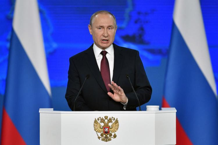 Líder russo fez seu discurso do Estado da União com ameaças aos EUA - Foto: Alexander Nemenov l AFP