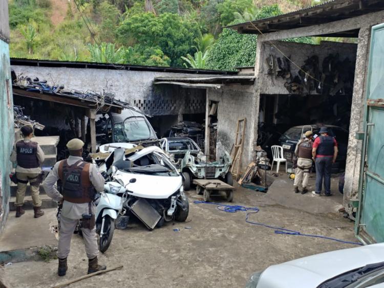 Quarteto é suspeito de usar uma oficina como fachada - Foto: Divulgação | SSP