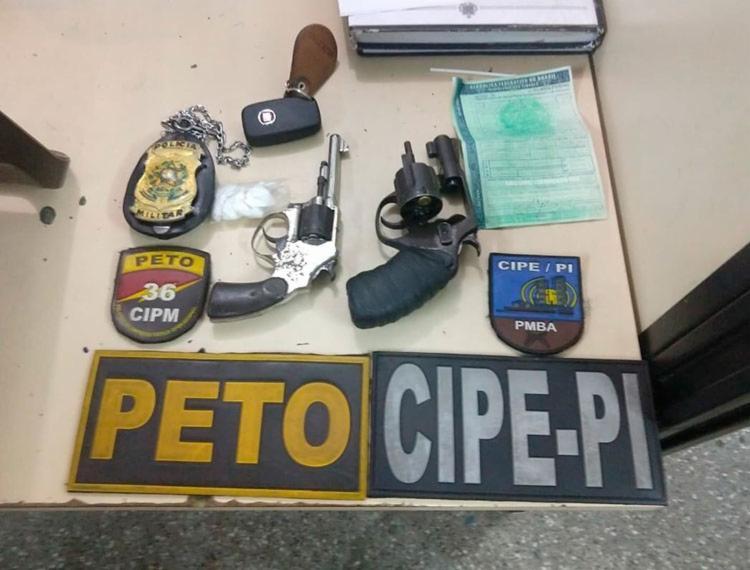 Material foi apreendido com suspeitos - Foto: Divulgação | SSP