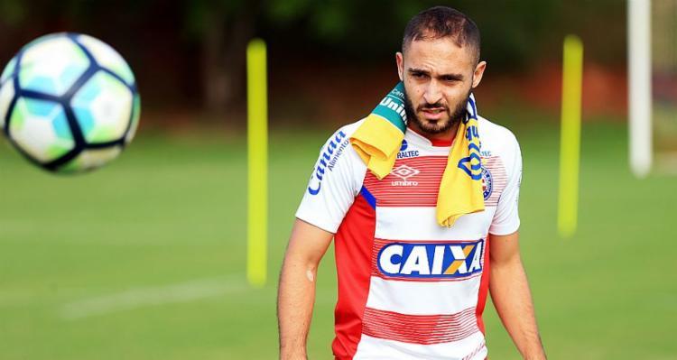 O jogador vinha treinando no Fazendão desde que retornou do Al-Wheda, da Arábia Saudita, em janeiro deste ano - Foto: Felipe Oliveira   Esporte Clube Bahia