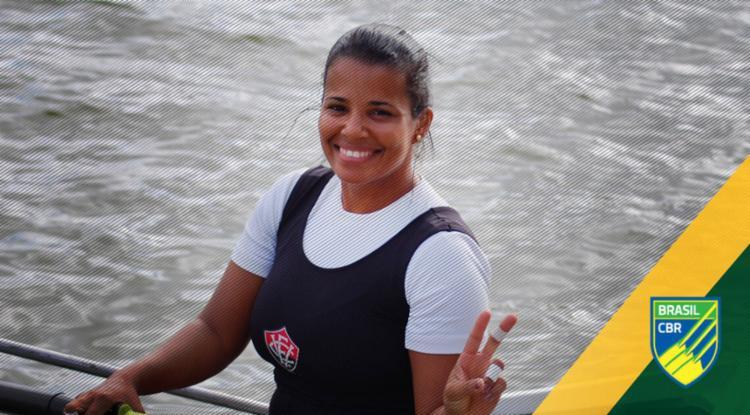 Giza conquistou a medalha de ouro do Brasileirão de Para-Remo em 2018 - Foto: EC Vitória