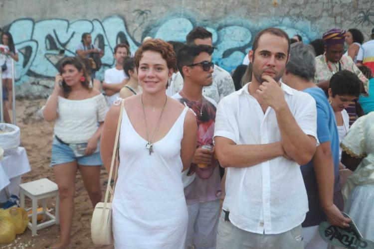Atriz Leandra Leal esteve em Salvador para acompanhar a festa de Iemanjá