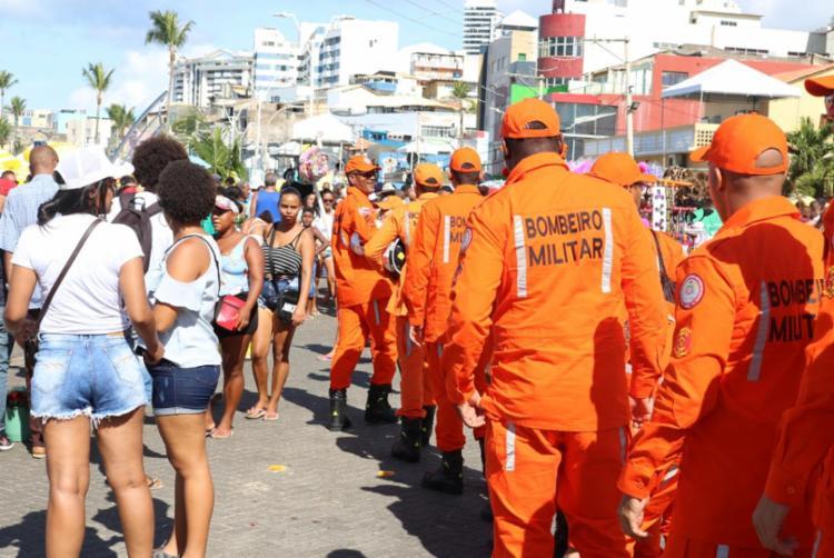 O Corpo de Bombeiros Militar está atuando com 180 guarda-vidas nas praias do bairro