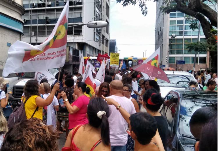 As manifestações ocorrem hoje em diversos estados brasileiros - Foto: Victor Rosa | Ag. A TARDE