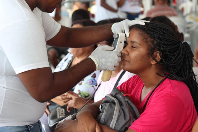 A ação social De Olho na Saúde acontece em vários bairros de Salvador - Foto: INTS