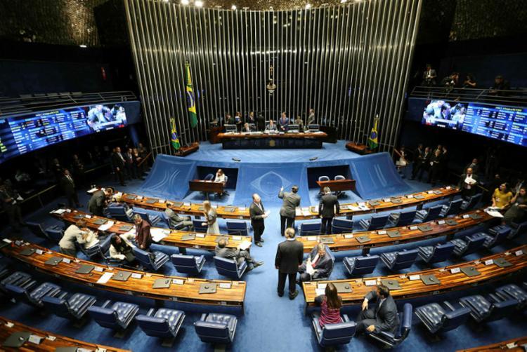 Após o resultado ser anunciado, senadores contrários a Davi se revoltaram - Foto: Fabio Rodrigues Pozzebom   Agência Brasil
