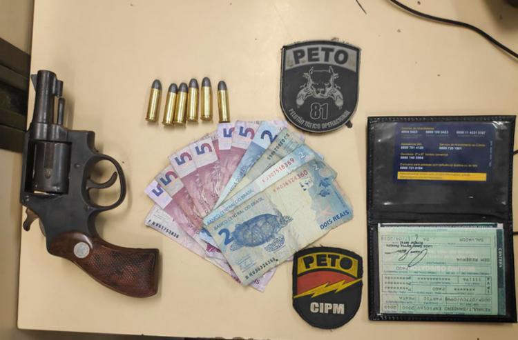 Material foi apreendido com suspeito e encaminhado para Delegacia Territorial de Itinga - Foto: Divulgação   SSP-BA
