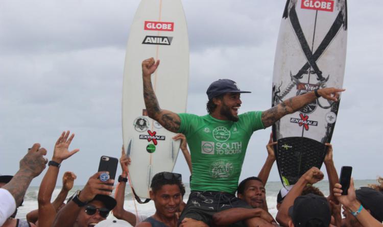 Franklin Serpa foi o campeão do QS 1000 Itacaré Surf Music em 2018 - Foto: WSL