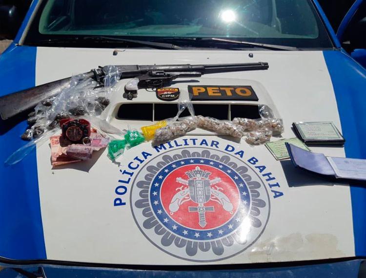 Material foi encontrado com vítimas - Foto: Divulgação | SSP-BA