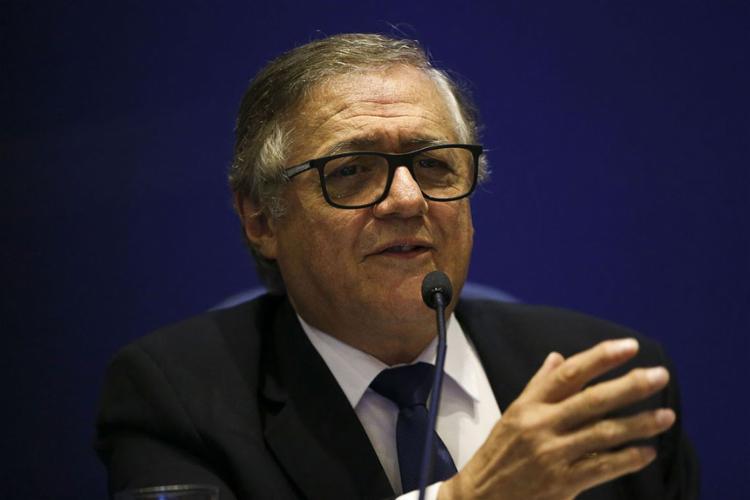 Vélez Rodríguez citou Cazuza ao ser questionado sobre se liberdade não incluiria ensinar marxismo, fascismo e liberalismo - Foto: Marcelo Camargo l Agência Brasil