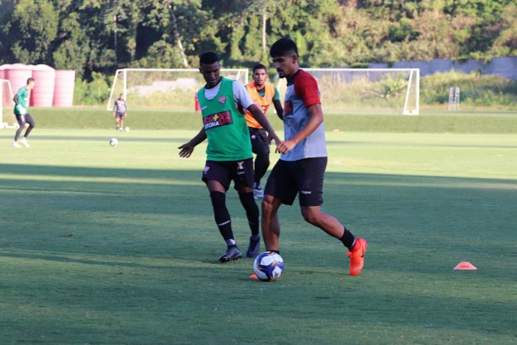 Os jogadores reservas foram a campo e fizeram um trabalho coletivo - Foto: Maurícia da Matta l EC Vitória