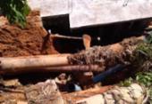 Adutora rompe em Ilhéus e causa prejuízos para moradores | Foto: Defesa Civil | Divulgação