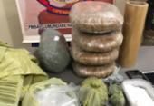 Suspeito é preso com drogas em Irecê | Foto: Divulgação | SSP-BA