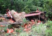 Caminhão cai em ribanceira e deixa um ferido na BA-148 | Foto: 97NEWS | Reprodução