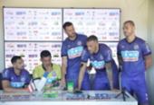 Em coletiva, jogadores do Bahia pedem desculpas e apoio à torcida | Foto: Felipe Oliveira | EC Bahia