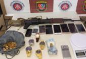 Trio é preso com fuzil russo no Jardim das Margaridas | Foto: Divulgação | SSP-BA