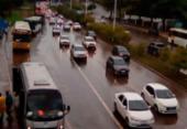 Trânsito na av. ACM fica intenso após fortes chuvas em Salvador | Foto: Joá Souza | Ag. A TARDE