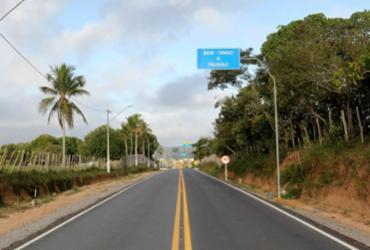 Trecho pavimentado da rodovia BA-503 em Pedrão é entregue à população