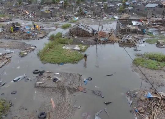 Novo ciclone atinge Moçambique e coloca o país em 'alerta vermelho' | Adrien Barbier | AFP