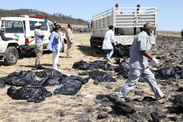 Segundo a companhia aérea, todos os ocupantes da aeronave morreram - Foto: Michael Tewelde | AFP