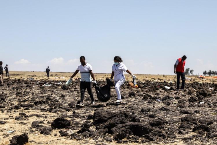 Todos os 157 passageiros presentes na aeronave morreram - Foto: Michael Tewelde   AFP