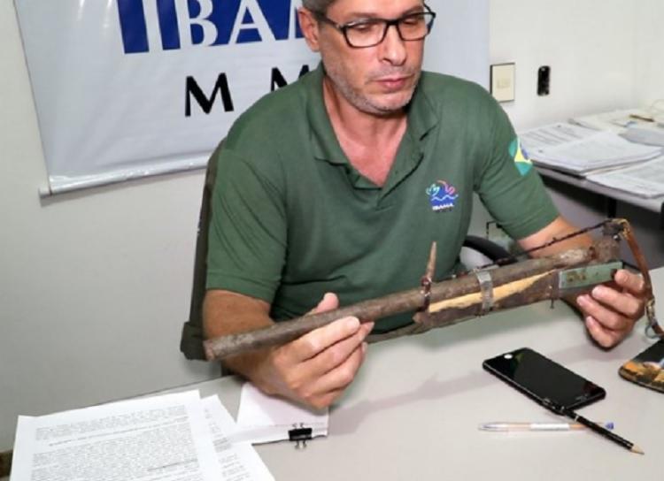 Segundo o homem, ele foi atingido durante o manuseio de uma espingarda artesanal. - Foto: Divulgação   RADAR 64