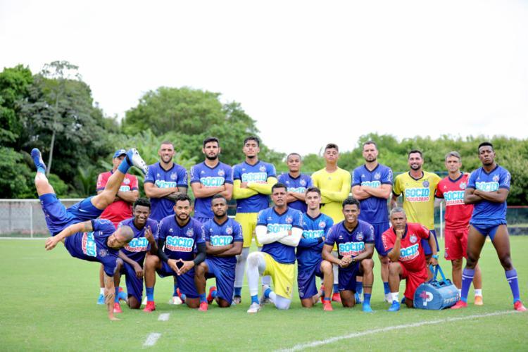 Atletas fizeram o famoso 'rachão' neste sábado - Foto: Divulgação | EC Bahia