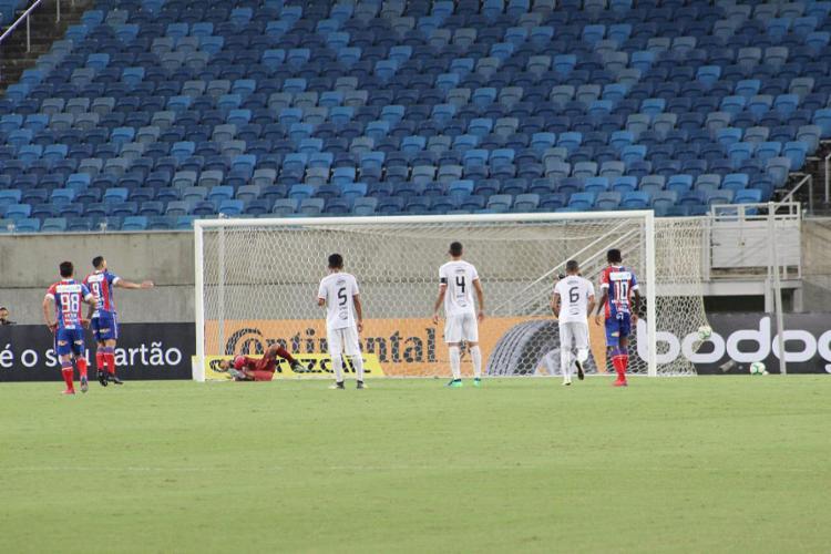 Com o gol marcado, Gilberto chegou ao seu 12º gol em 11 jogos em 2019, isolando-se como artilheiro do País na temporada - Foto: Diego Simonetti l Santa Cruz de Natal