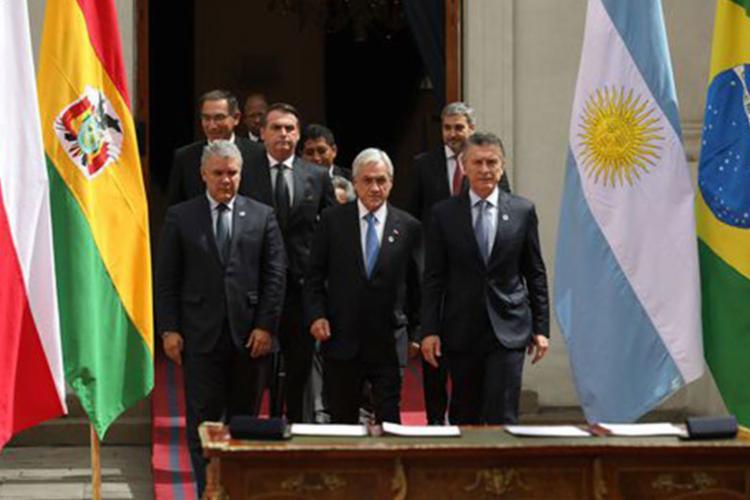 Documento foi assinado após encontro bilateral entre os dois no Palácio de La Moneda - Foto: Marcos Corrêa | PR
