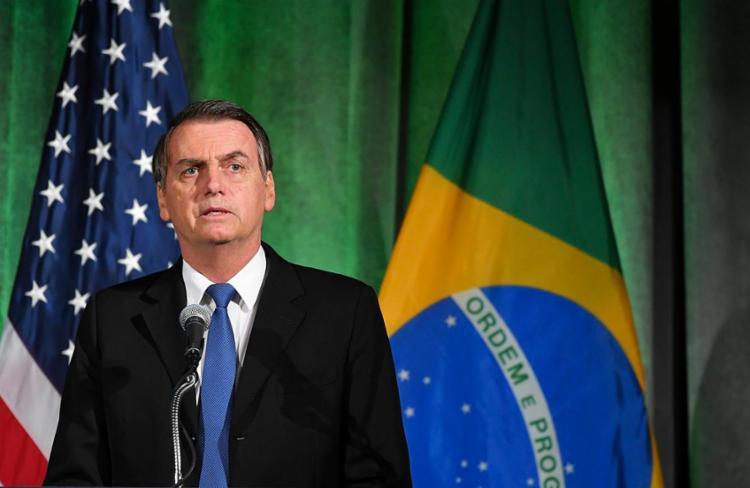 Segunda vez em menos de duas semanas que Bolsonaro vai ao Legislativo - Foto: Mandel Ngan | AFP