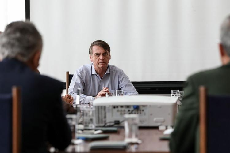 Antes, presidente se reuniu com ministros e comandantes das Forças Armadas para avaliar versão final - Foto: Marcos Corrêa l PR
