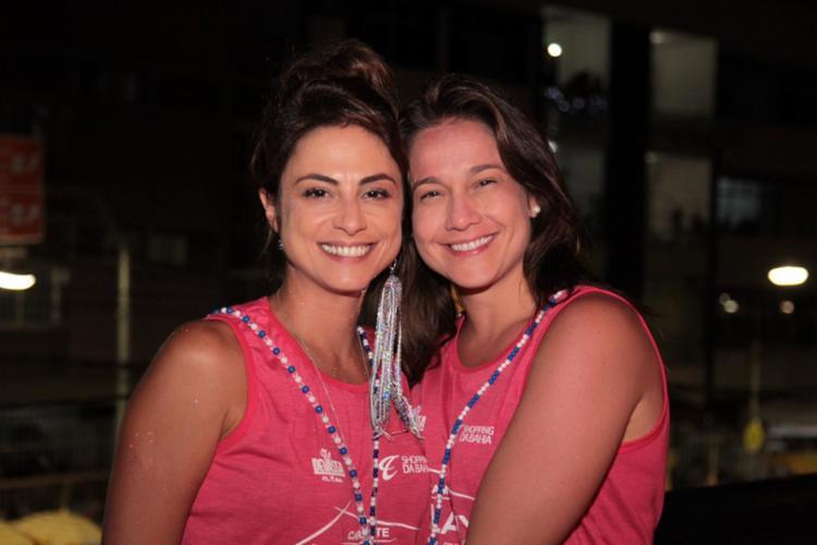 Fernanda Gentil e Priscila Montandon estiveram no camarote neste domingo - Foto: Victor Silveira e Sércio Freitas