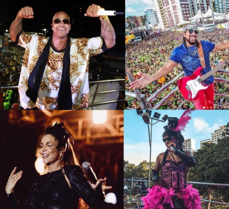 A pesquisa mostrou os artistas que ficaram mais tempo com transmissões ao vivo em noticiários dos telejornais - Foto: Instagram | Reprodução