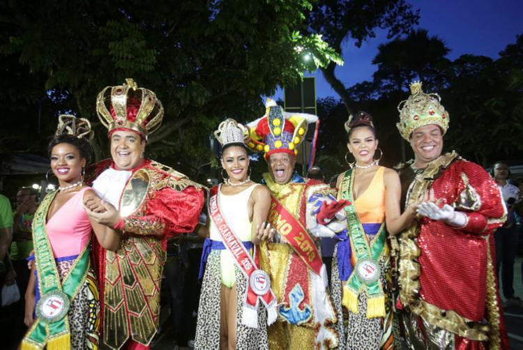 Rei Momo, rainha, princesas e príncipes do carnaval
