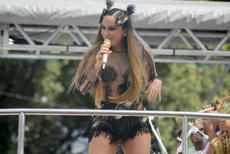Claudia Leitte apresentou sucessos como 'Balancinho' e 'Saudade' - Foto: Jefferson Peixoto   Secom