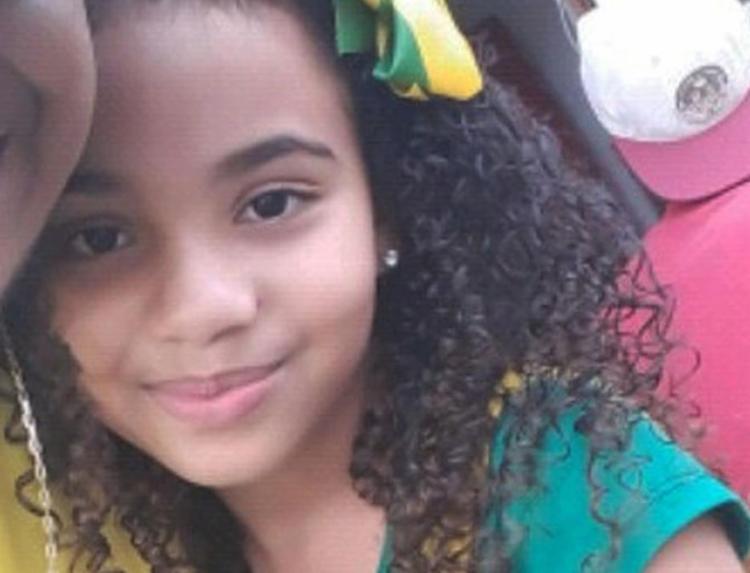 Bruna Cruz, de apenas 9 anos, estava no carro quando foi atingida por disparos - Foto: Reprodução | Visão Diária