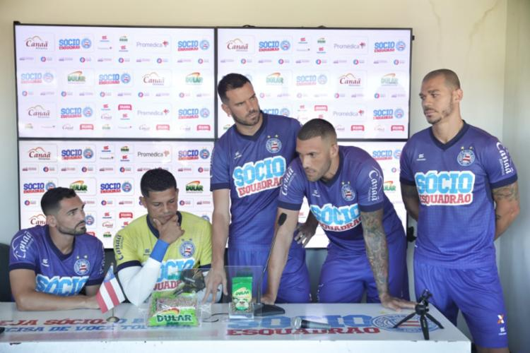 Os atletas prometeram trabalhar firme para buscar melhores resultados nas próximas partidas - Foto: Felipe Oliveira | EC Bahia
