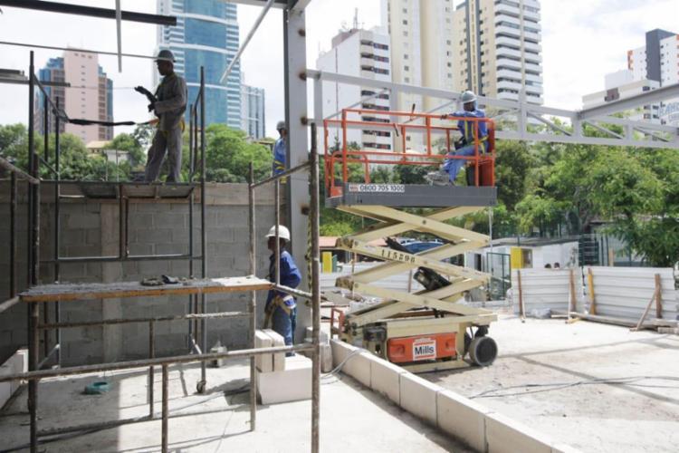 Setor da construção civil foi o que teve maior saldo positivo - Foto: Divulgação