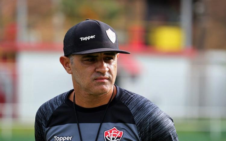 Marcelo Chamusca disputou 14 jogos pelo Rubro-Negro, com três triunfos, sete empates e quatro derrotas - Foto: Maurícia da Matta   EC Vitória
