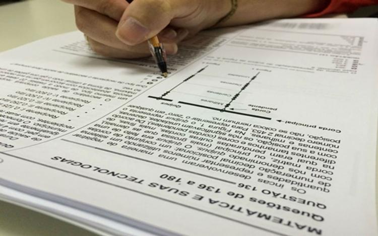 O exame não terá mais folha de rascunho - Foto: Reprodução