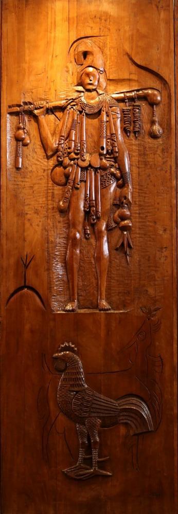 O olhar de Carybé sobre Exu integra o Mural dos Orixás, em exposição no Mafro