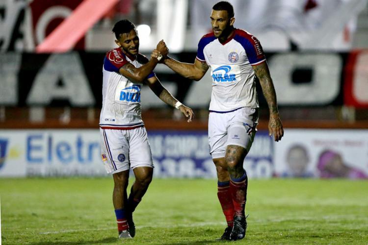 Fernandão fez seu quinto gol pelo estadual, o sexto em 2019 - Foto: Felipe Oliveira l EC Bahia