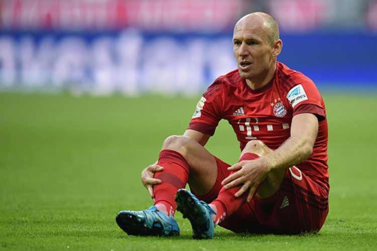 O técnico Niko Kovac confirmou que o atacante holandês Arjen Robben não se recuperará a tempo - Foto: Getty Images