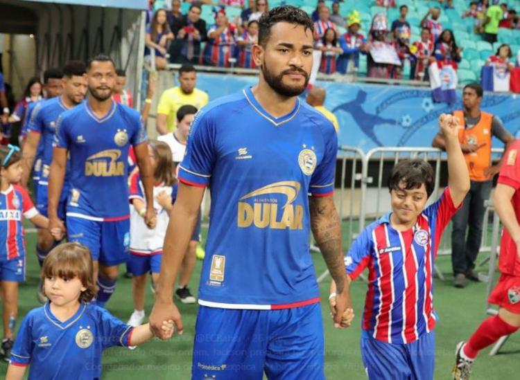 Jackson sofreu uma fratura no rosto, na partida contra o Salgueiro - Foto: Divulgação | EC Bahia