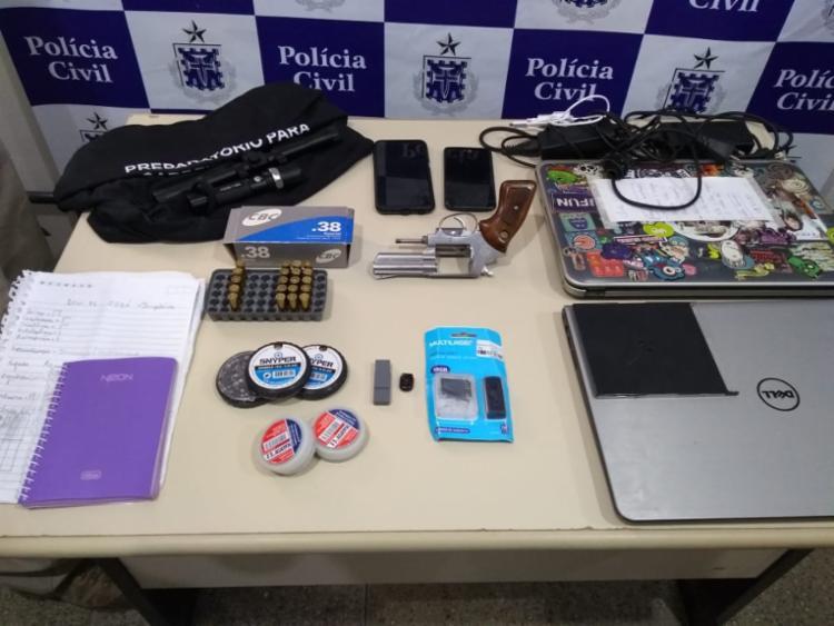 Material foi encontrado na casa do jovem - Foto: Divulgação | SSP-BA