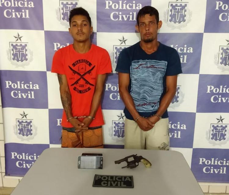 Dono da arma utilizada para cometer o crime também foi preso - Foto: Divulgação | SSP