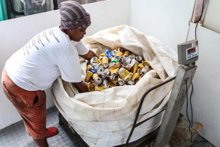 Cooperativas de reciclagem cadastradas no município recolhem os materiais - Foto: Bruno Concha | Secom