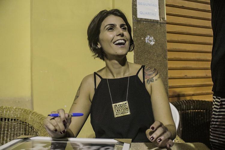 A ex-candidata a vice de Fernando Haddad (PT) veio a Salvador para lançar o livro 'Revolução Laura' - Foto: Mídia Ninja l Divulgação