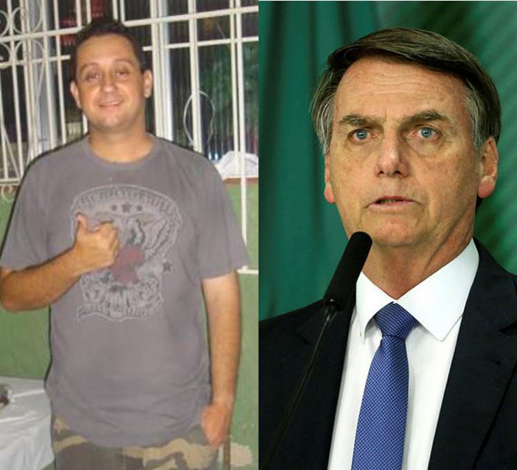 Queiroz, de 46 anos, teria postado a imagem em que aparece lado a lado com o Bolsonaro no último dia 4 de outubro - Foto: Reprodução e Valter Campanato   Agência Brasil