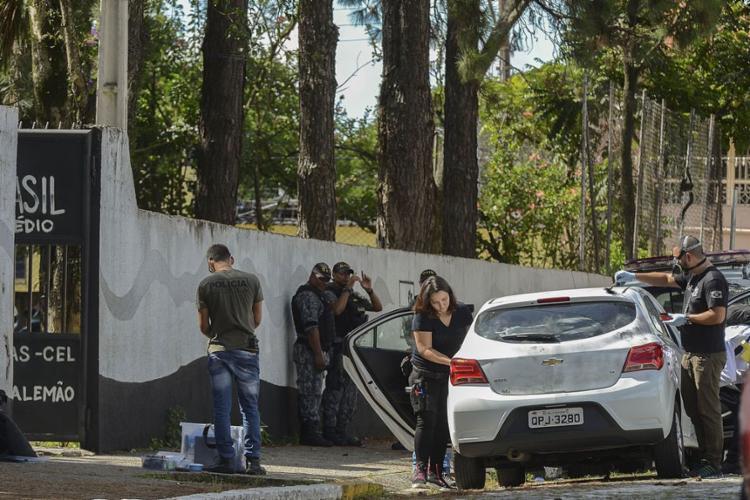 Os dois atiradores eram ex-alunos da escola - Foto: Rovena Rosa l Agência Brasil